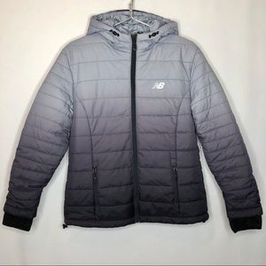 New Balance Puffer Quilted ombré Jacket Coat